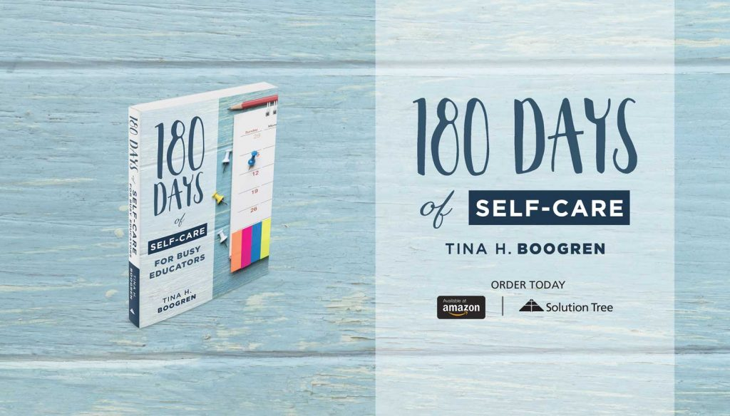 180 Days of Self-Care by Tina H. Boogren is available for purchase now