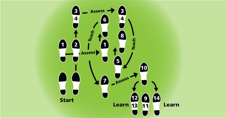 Dance steps: Assess, Teach, Learn