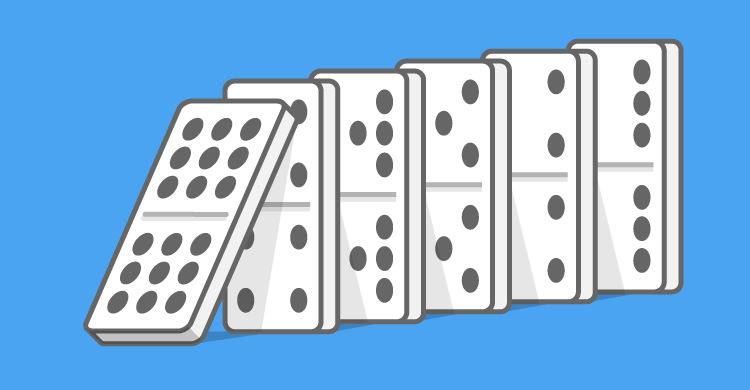 Setting up the dominoes