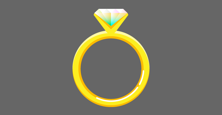 Diamond ring for PLC