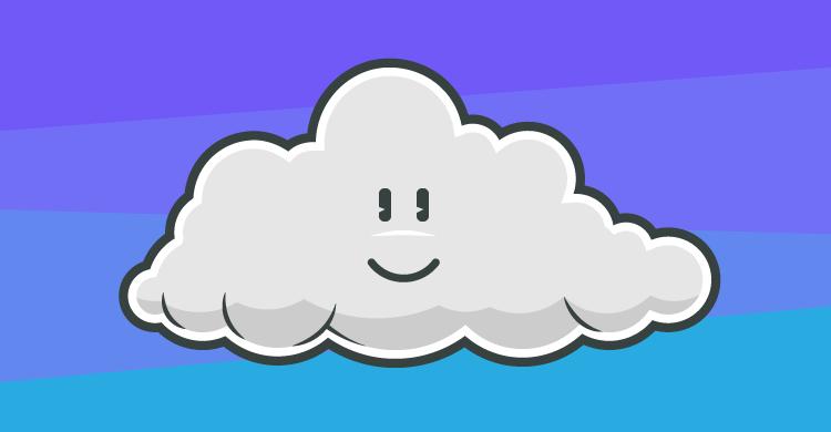 A happy cloud