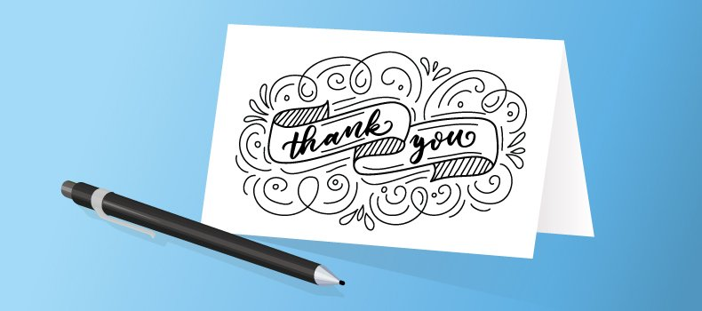 It's as simple as saying thank you with sincerity.