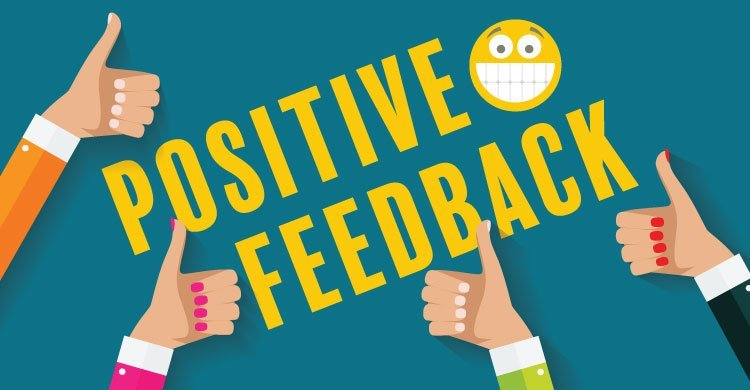 Use positive feedback rather than negative thinking