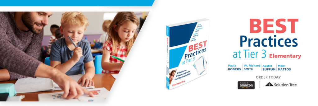 Best Practices at Tier 3 (Elementary) is available for purchase at Amazon or SolutionTree.com